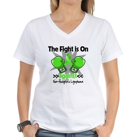 Fight Non-Hodgkins Lymphoma Women's V-Neck T-Shirt