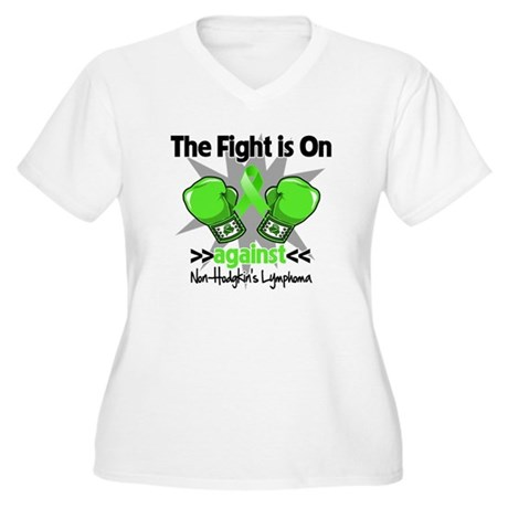 Fight Non-Hodgkins Lymphoma Women's Plus Size V-Ne