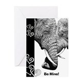 African Elephants Valentine Card