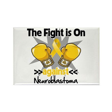 Fight is On Neuroblastoma Rectangle Magnet (10 pac