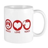 Peace Love Teach Mug