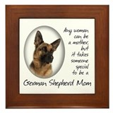 German Shepherd Mom Framed Tile
