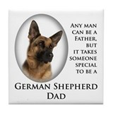 German Shepherd Dad Tile Coaster