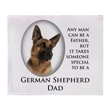 German Shepherd Dad Throw Blanket
