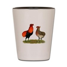 Araucana Chickens Shot Glass