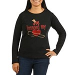 Joe Lassoed My Heart Women's Long Sleeve Dark T-Sh