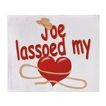 Joe Lassoed My Heart Throw Blanket