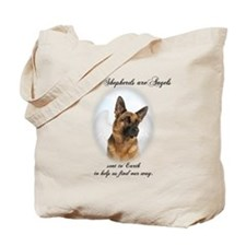 German Shepherd Angel Tote Bag