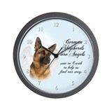 German Shepherd Angel Wall Clock