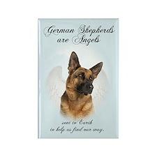 German Shepherd Angel Rectangle Magnet