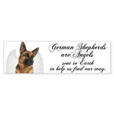 German Shepherd Angel Bumper Sticker