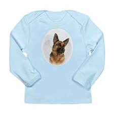 German Shepherd Angel Long Sleeve Infant T-Shirt