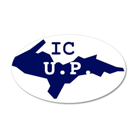 IC UP 38.5 x 24.5 Oval Wall Peel