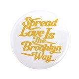"Brooklyn Love Yellow 3.5"" Button (100 pack)"