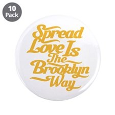 "Brooklyn Love Yellow 3.5"" Button (10 pack)"
