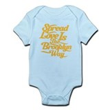 Brooklyn Love Yellow Infant Bodysuit