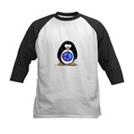 Peace penguin Kids Baseball Jersey