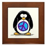 Peace penguin Framed Tile