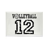 Volleyball 12 Rectangle Magnet