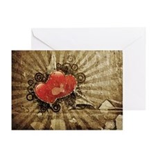 Steampunk Hearts Greeting Cards (Pk of 10)