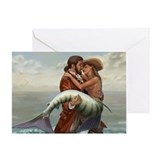 Pirate and Mermaid Greeting Card