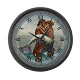 Pirate and Mermaid Large Wall Clock