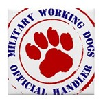 USCG Working Dogs Tile Coaster