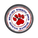 USCG Working Dogs Wall Clock