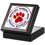 USCG Working Dogs Keepsake Box