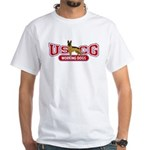 USCG Working Dogs White T-Shirt