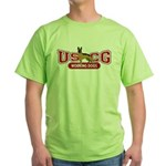 USCG Working Dogs Green T-Shirt