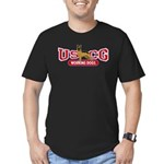 USCG Working Dogs Men's Fitted T-Shirt (dark)