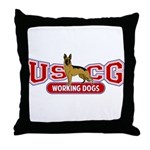 USCG Working Dogs Throw Pillow