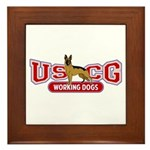 USCG Working Dogs Framed Tile