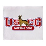 USCG Working Dogs Throw Blanket