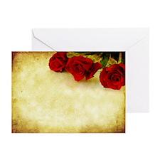 Grunge Roses Greeting Cards (Pk of 10)