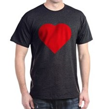 Plain Red Love Heart Symbol T-Shirt
