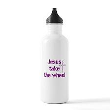Jesus Take the Wheel Water Bottle