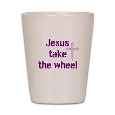 Jesus Take the Wheel Shot Glass