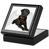 Black Lab Angel Keepsake Box