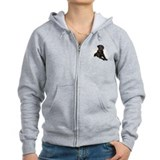 Black Lab Angel Zipped Hoody