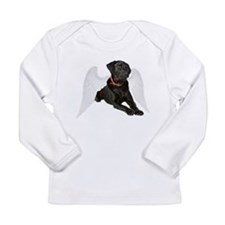 Black Lab Angel Long Sleeve Infant T-Shirt