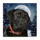 Black Lab Tile Coaster