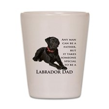 Black Lab Dad Shot Glass