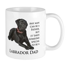 Black Lab Dad Small Mug