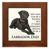 Black Lab Dad Framed Tile
