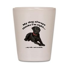 Black Lab vs Wife Shot Glass