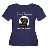 God Created Black Labs Women's Plus Size Scoop Nec