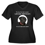 God Created Black Labs Women's Plus Size V-Neck Da
