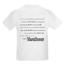 I Am a Marathoner Kids T-Shirt
